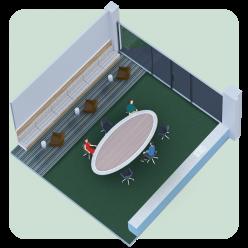 Reconfigured Room Capacity